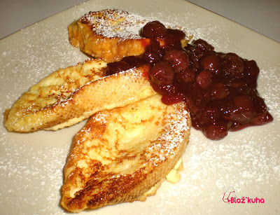 recepti kruh, recepti višnjev kompot, zajtrk, recept zajtrk, recepti zajtrk, višnjev preliv