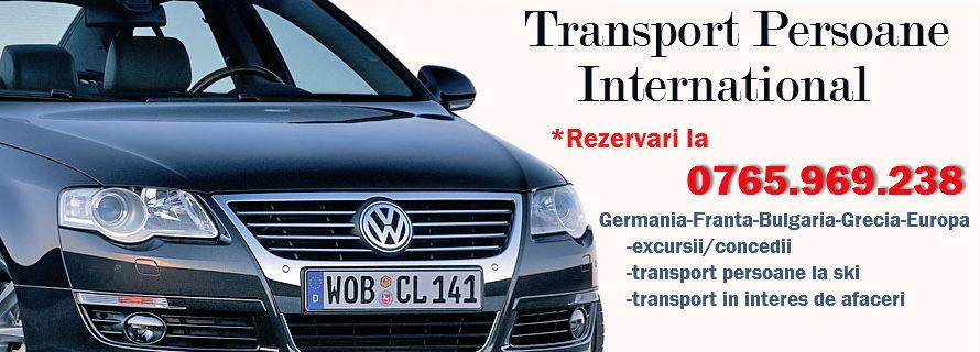 transport persoane international