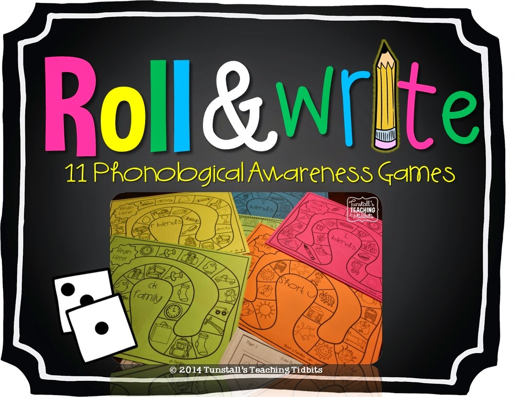 http://www.teacherspayteachers.com/Product/Roll-and-Write-11-Phonological-Awareness-Games-1301398
