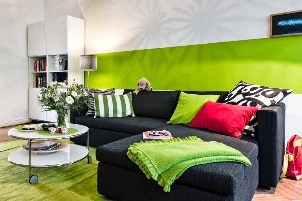 Ideias Para Uma Sala De Estar ~  Ideias para Decorar uma Sala de Estar com inspiração no Verde