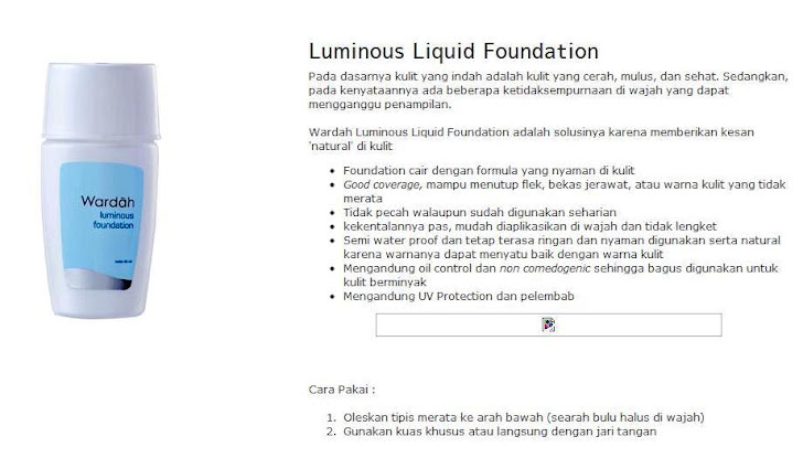 Luminous Liquid Foundation - $12.50