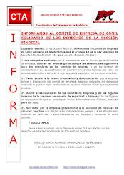 INFORMAMOS AL COMITÉ DE EMPRESA DE CONIL SOLIDARIO DE LOS DERECHOS DE LA SECCIÓN SINDICAL