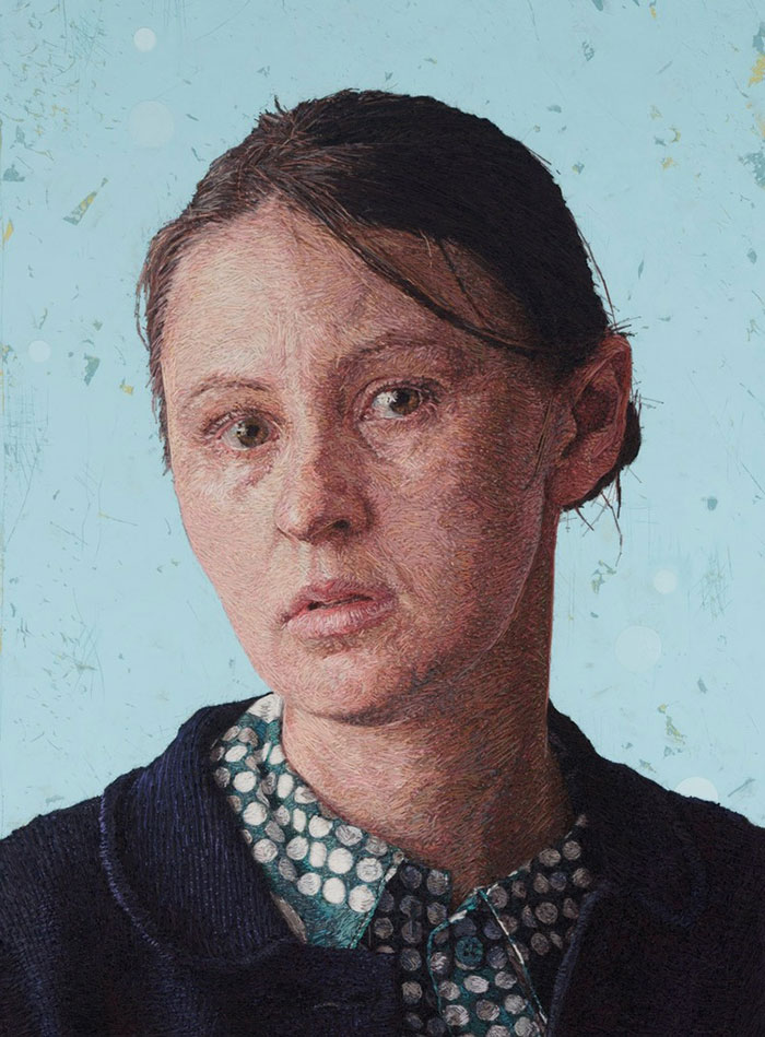 About-Face: Hand-sewn Portraits by Cayce Zavaglia