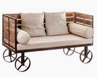 carro sofa recibidor rustico