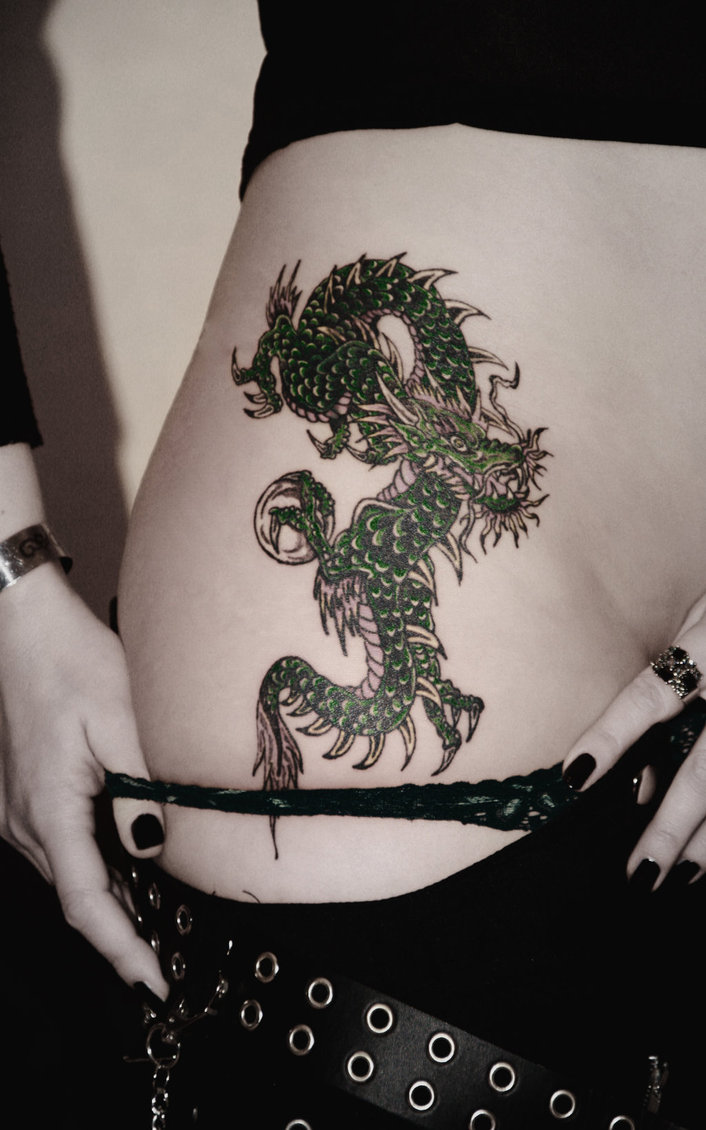 dragon tattoo for girls all about. Black Bedroom Furniture Sets. Home Design Ideas