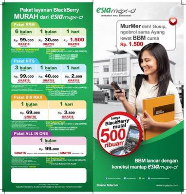 Info Tarif Terbaru Paket BB Esia dan Cara Registrasi