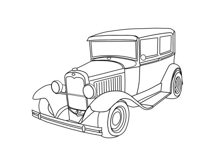 Free Cartoon Car Coloring Pages