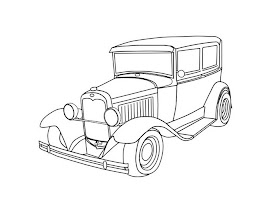 Free Cartoon Car Coloring Pages (11 Image)