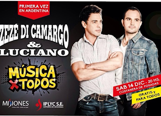 Zezé Di Camargo e Luciano pela primeira vez na Argentina