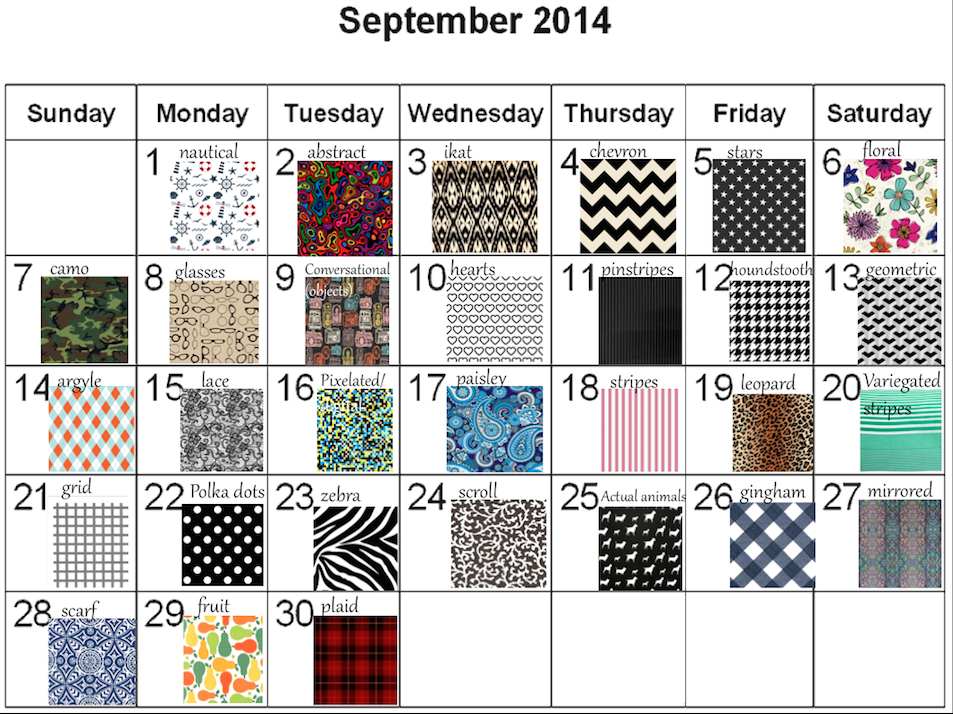 Join the Daily Pattern Challenge for September!