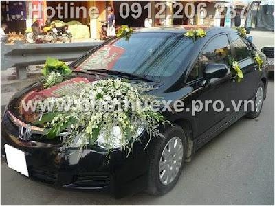 Mẫu hoa xe cưới 1 triệu XH 059