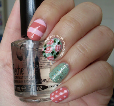Vintage Mismatched Nails Nail Art