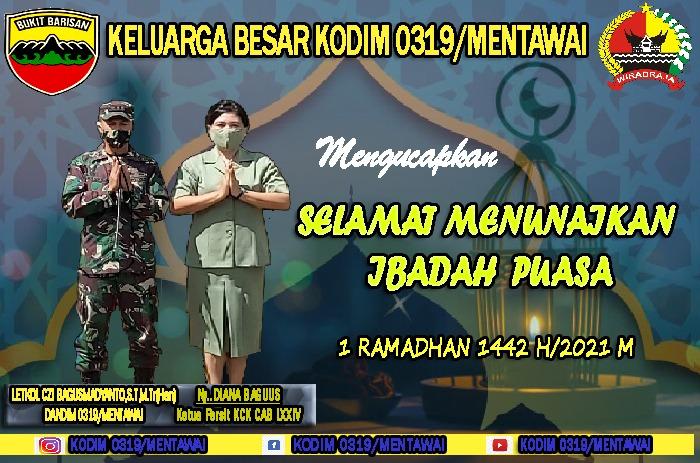 Selamat Menunaikan Ibadah Puasa Keluarga Kodim 0319/MTW