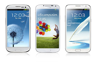 Samsung Galaxy S3 vs. Galaxy S4 vs. Note 2