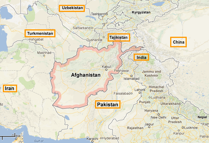afghanistan map google