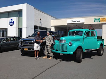 Col. Gary Rosenberg Show Walt Young His Classic Truck While Buying a New One Too