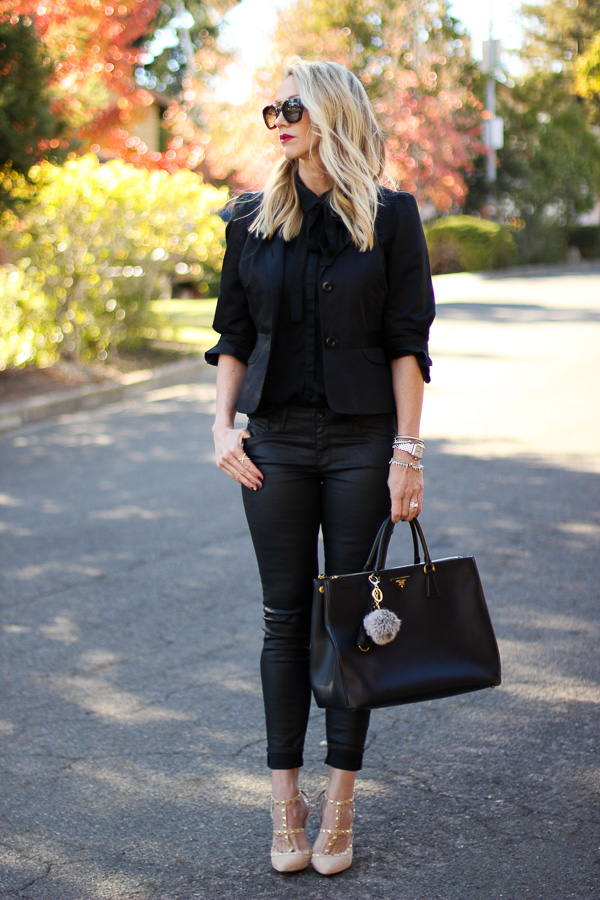 date night outfit all black