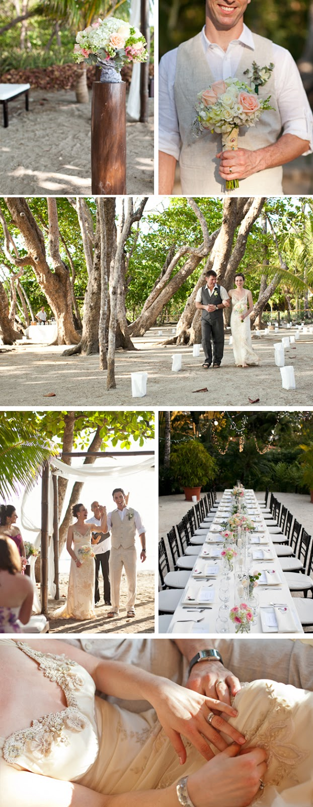 romantic pink Costa Rica destination wedding by A Brit and A Blond