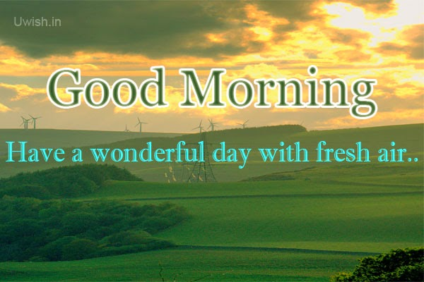Good morning e greetings and wishes with fresh air on a wonderful day.
