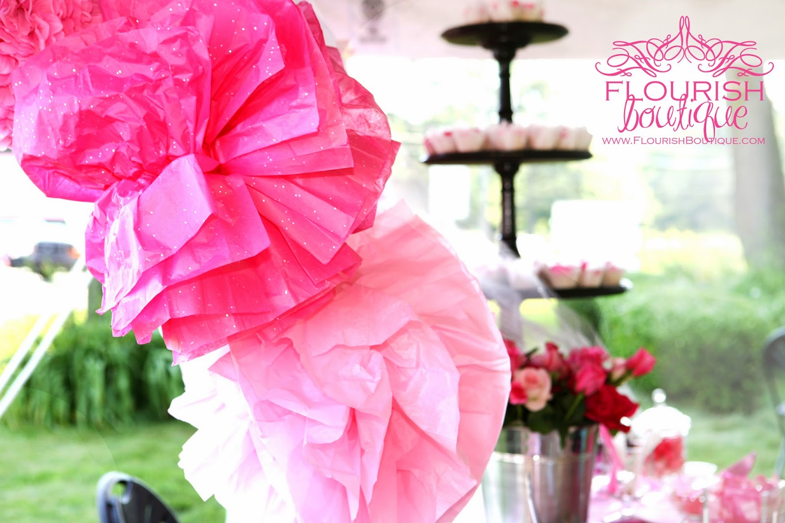 pink girly party decorations Flourish Boutique