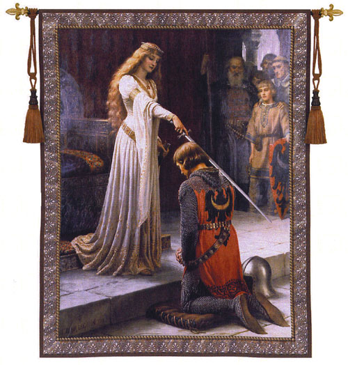 Famous Painting Of Woman Dubbing Knight
