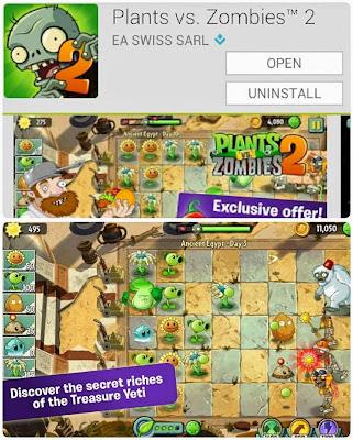Game Plants vs Zombies 2 Sudah Tersedia di Play Store
