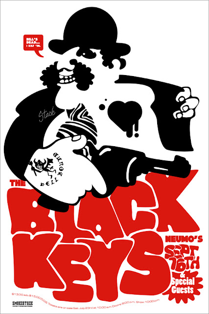 Ames Bros Black Keys Poster Illustration