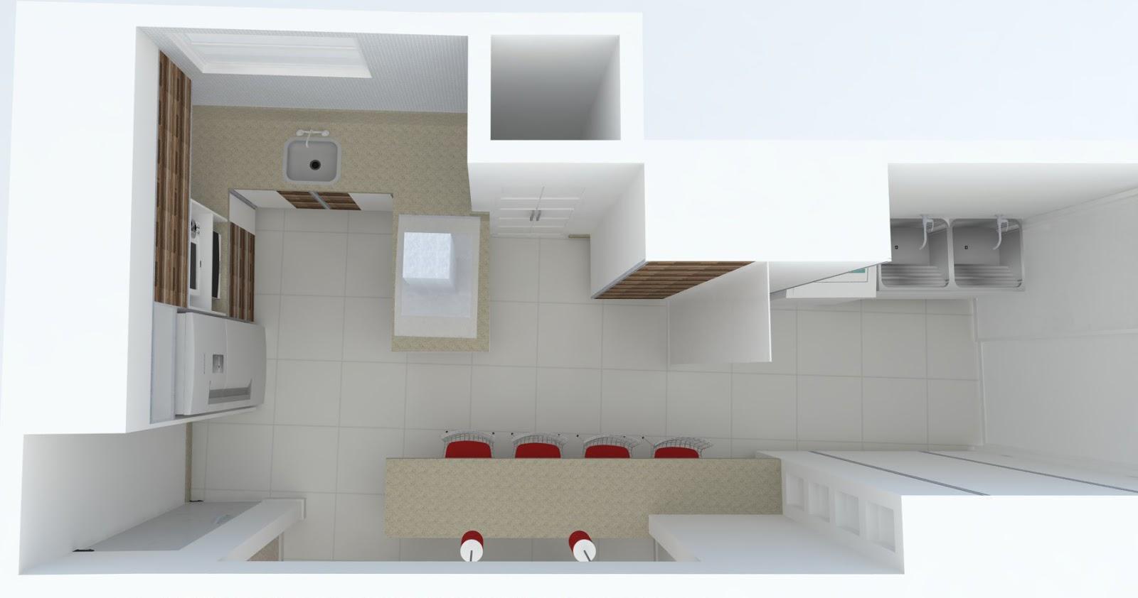 Projeto Arquitetônico de Interior Refoma Cozinha /Lavanderia/ Sala  #643B31 1600 842