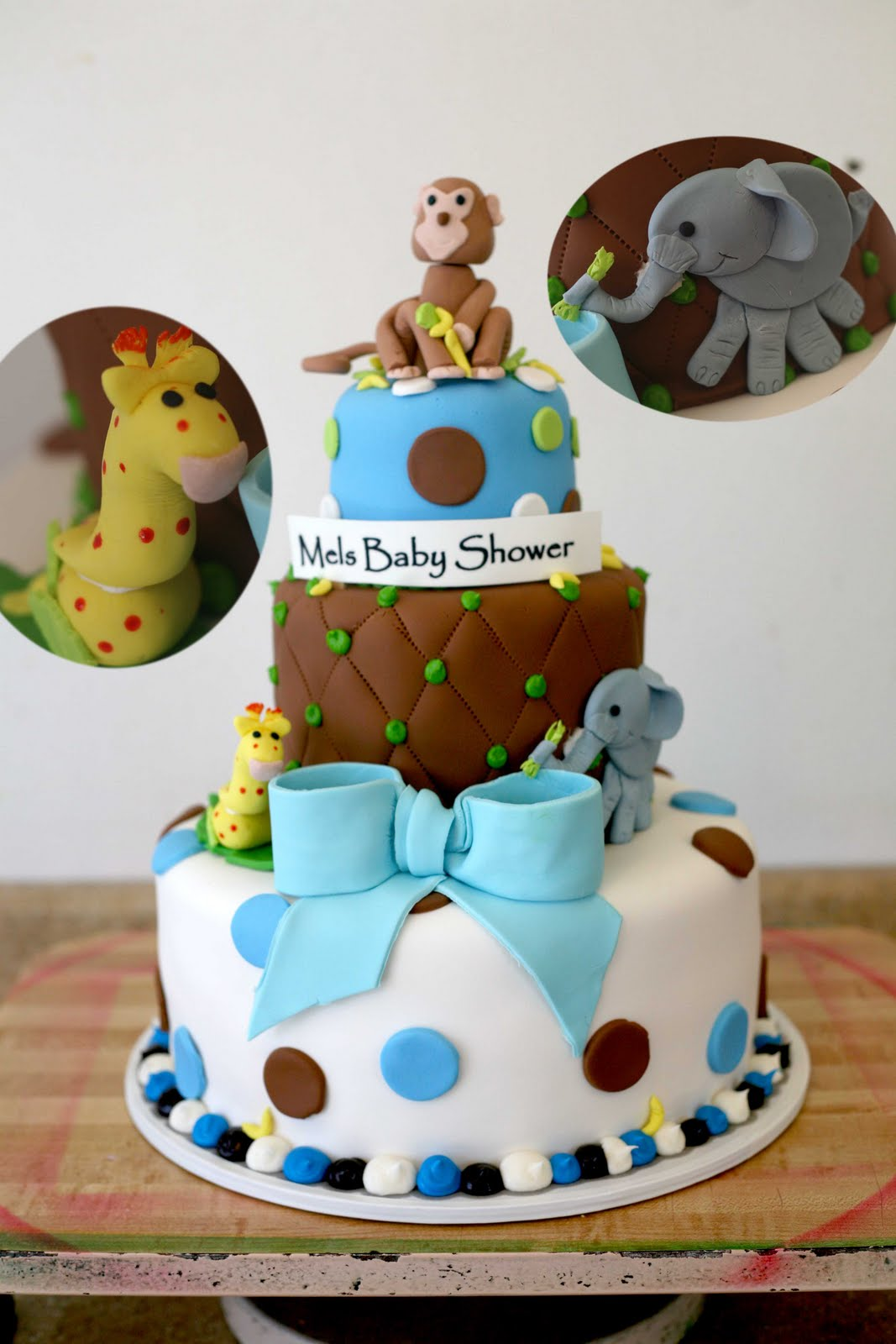 hector 39 s custom cakes baby shower 3d safari animals custom