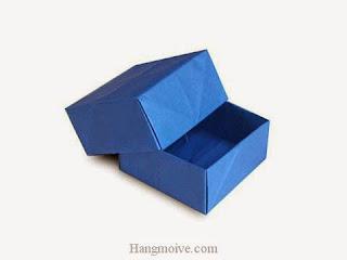 Cách gấp, xếp hộp quà tặng hình vuông dày bằng giấy origami - Video hướng dẫn xếp hình trái tim quà tặng - How to fold a Box