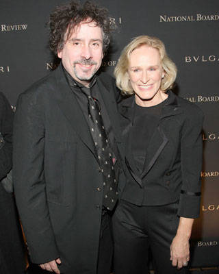Tim Burton and Glenn Close at the National Board of Review of Motion Pictures Annual Awards Gala