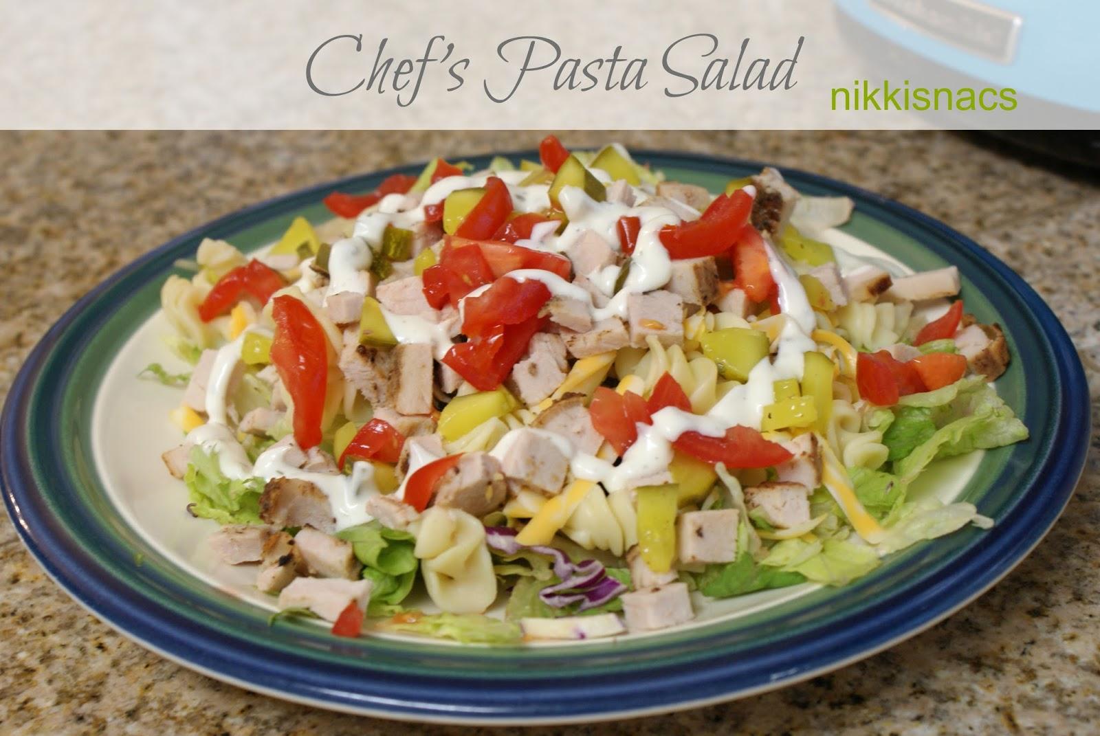 Nikkis' Nacs: Chef's Pasta Salad