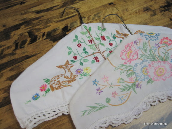 High prairie farmgirl using vintage linens embroidered