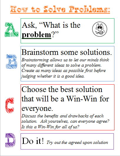 Confessions Of A School Counselor  The Abcs Of Problem Solving