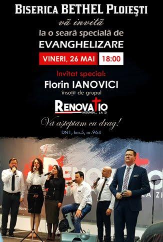 Florin Ianovici și Grupul RENOVATIO la Biserica Bethel Ploiești