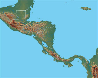 Dilsiz Orta Amerika Fiziki Haritas�