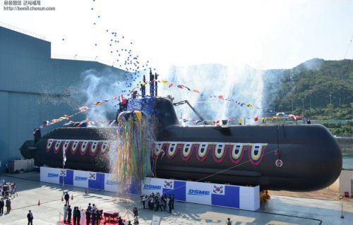 Peluncuran kapal selam Tipe 214 Korea Selatan