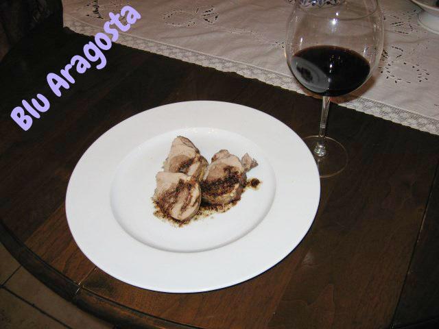 filetto di maiale con cuore morbido al vino rosso