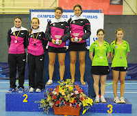 Podio Absoluto dobles femeninos 2013