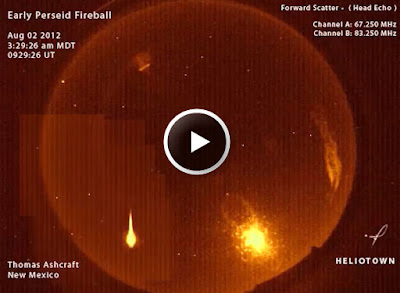 """Lluvia de meteoros """"Perseidas"""" 03 de Agosto 2012"""