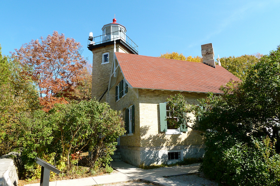 Eagle Bluff Lighthouse at Peninsula State Park in Door County, Wisconsin