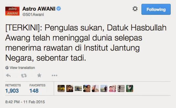 Terbaru! Datuk Hasbullah Awang Meninggal Dunia!