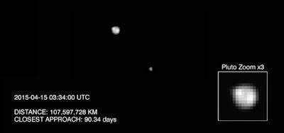 Hipernovas: Sonda New Horizons da NASA Detecta Feições e Uma Possível Calota Polar em Plutão [Artigo + Imagem + Gif]