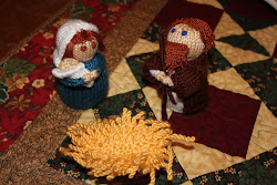 My knitted nativity