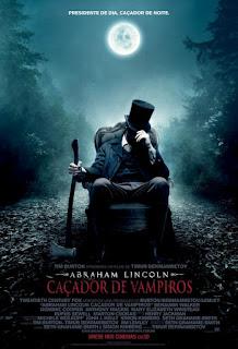 "Poster do filme ""Abraham Lincoln: Caçador de Vampiros"""