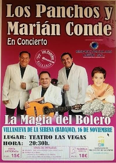 Concierto: Los Panchos y Marián Conde