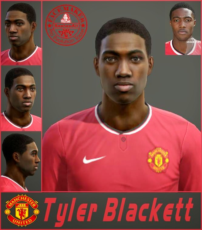 PES 2013 Tyler Blackett HD Face By SantanAji