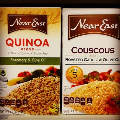 Vegetarian Vegan Food Groceries at Target Near East Rosemary & Olive Oil Quinoa and Roasted Garlic & Olive Oil Couscous