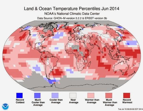 Perubahan Suhu Global Juni 2014