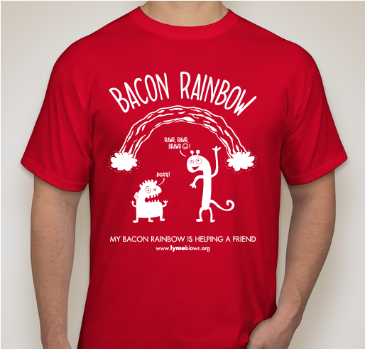 Order the Red Bacon Rainbow Shirt